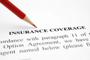 Insurance coverage form for dental implants.